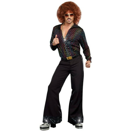 Disco Dude Shirt Men's Adult Halloween Costume - Top Costumes For Men