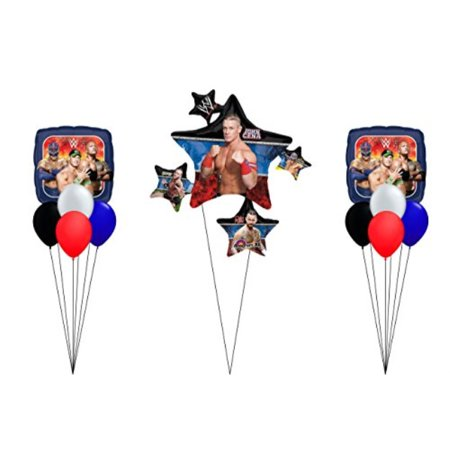 WWE Wrestling Party 11 CT Balloon Bouquet - Wwe Party Decorations