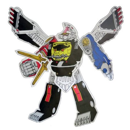 power rangers megazord jointed cutout - party decoration - Power Rangers Party Decorations