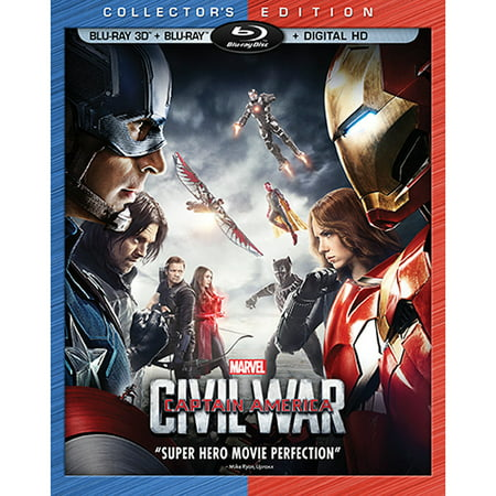 Captain America: Civil War (Collector's Edition) (Blu-ray 3D + Blu-ray + Digital HD) (Brille 3d Anprobe)