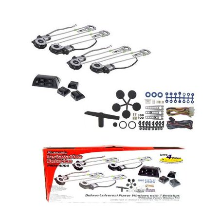 Electric Vehicle Conversion Kits (Universal 4 Door Electric Car Truck Power Window Conversion Kit Roll Up Switches )