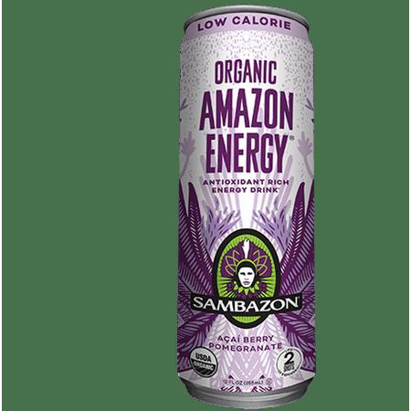 Sambazon Amazon Energy Low Calorie Organic Energy Drink, 12 Fo (Pack of