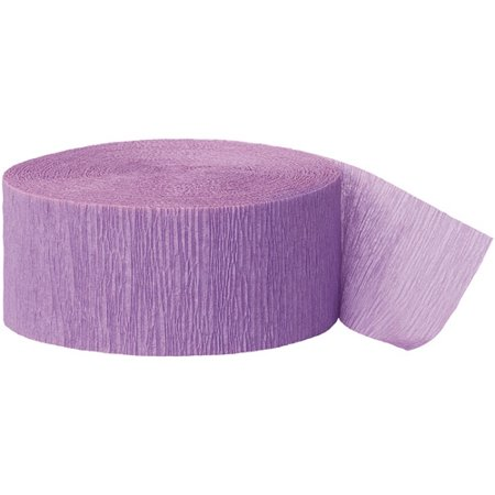 (2 Pack) Lavender Crepe Paper Streamers, 81ft - Colourful Streamers