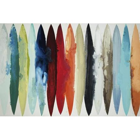 Even Flow Multicolor Modern Scandinavian Abstract Print Wall Art By Randy Hibberd