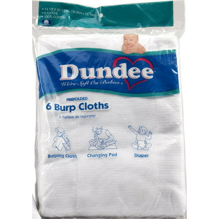 Dundee Burp Cloths 6pk Chenille Bib Burp Cloth