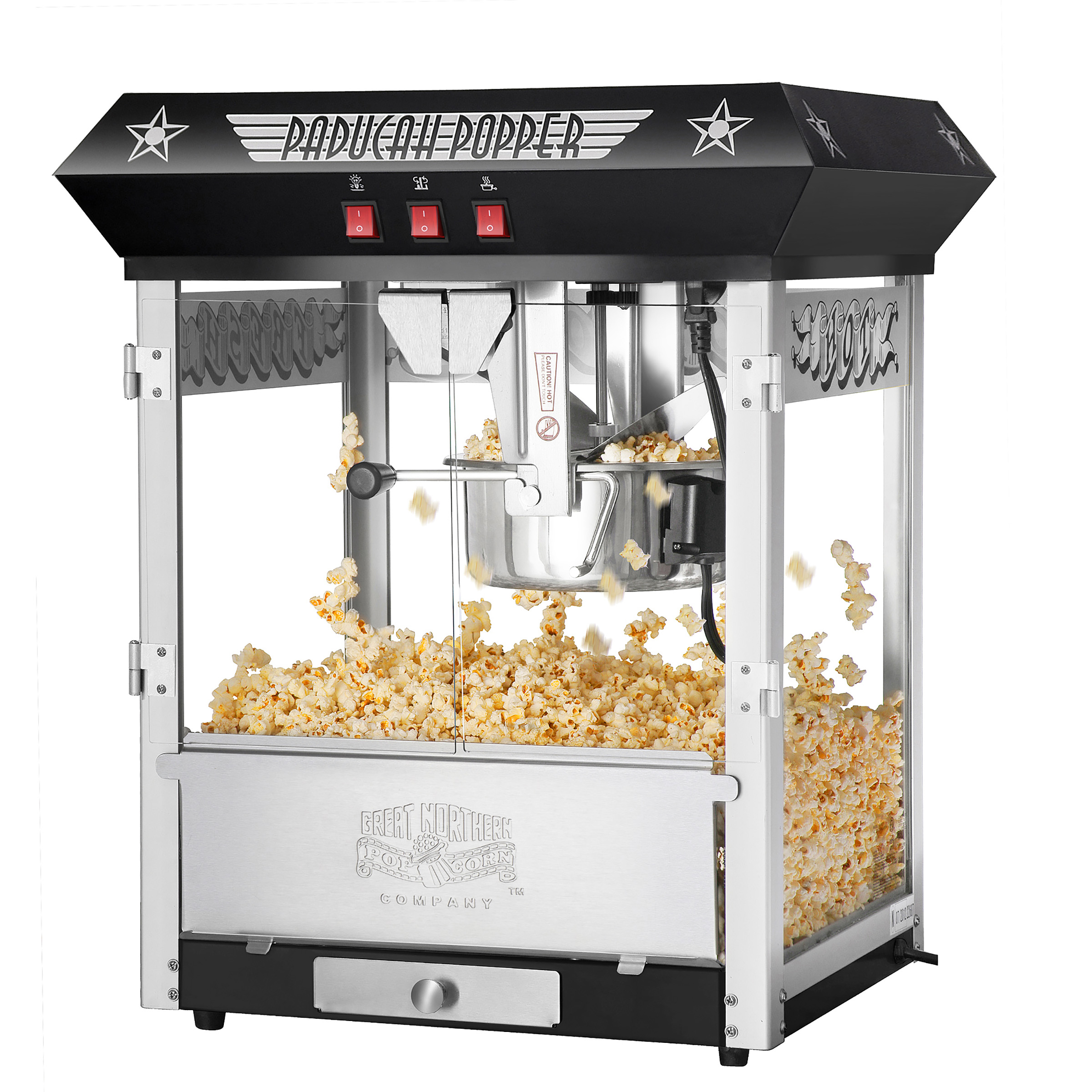 Paducah Black Popcorn Popper Machine, 8 oz by Great Northern Popcorn