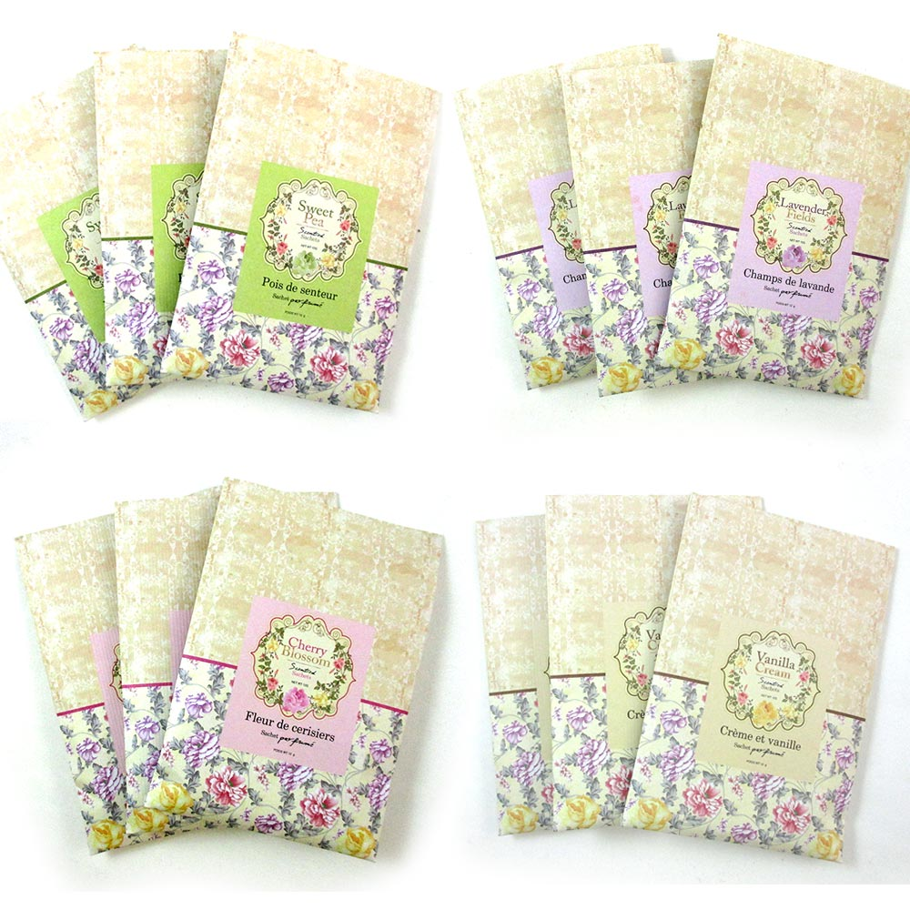3 Scented Fragrance Sachet Bags Wardrobe Home Drawer Perfume Pouch Party Favor