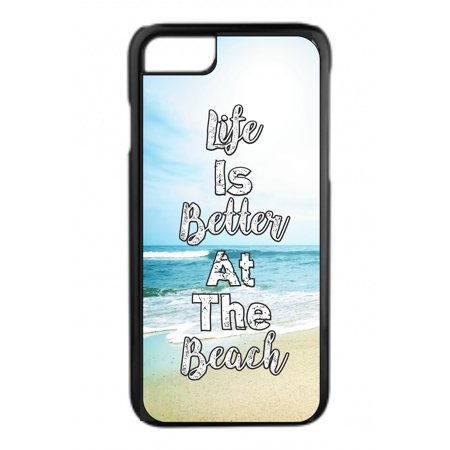 Life is Better At the Beach Design Black Rubber Case for the Apple iPhone 6 / iPhone 6s - iPhone 6 Accessories - iPhone 6s Accessories Case Dimensions (case length:) iphone 6s 5.5 inch case - iphone 6 5.5 inch case ; Case Dimensions (for iPhone with the following size screen:) iphone 6 4.7 case - iphone 6s 4.7 case ; This Apple iPhone 6 Case -  iPhone 6s is made of a durable rubber. TPU slim iPhone 6 Thin Case - iPhone 6s Thin Phone Case ; Black appleiphone6 case - 6s iphone case ; Bumper style iphone six case - iphone six s case ; These apple iphone 6 accessories - apple iphone 6s accessories feature a vibrant and everlasting flat printed image design. Beautiful, protective, essential and fun apple iphone 6 case - iphone 6s iphone case ; iphone 6s kids case - apple iphone 6 kids case - iphone 6 case for girls - iphone 6s case for girls - iphone 6 case for boys - iphone 6s kids case boys - iphone six case for teens - iphone 6s accessories for women and men