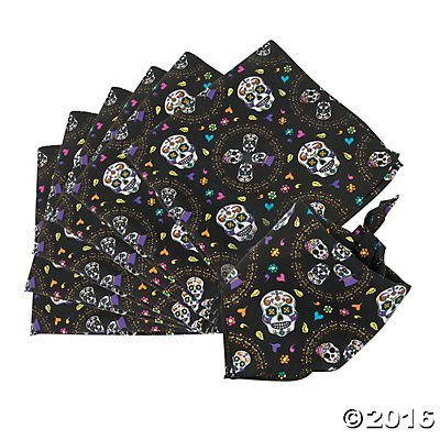 Day of the Dead Bandanas - 12 pc by Party Supplies