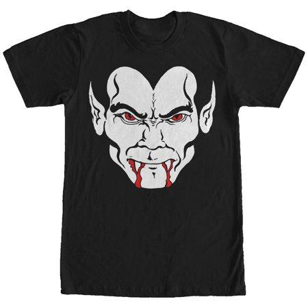 Men's Halloween Dracula Vampire Face T-Shirt (Vampire Face Halloween)