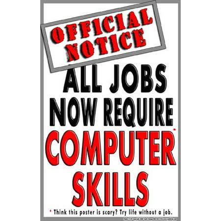 Skills Poster Set (#139 Computer Skills Poster, Motivational Poster, School Technology Poster )