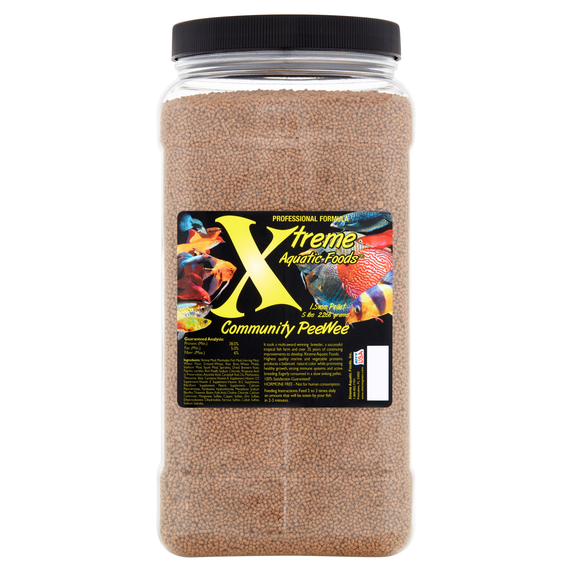 Xtreme Aquatic Community PeeWee Fish Food Pellets, 80 oz
