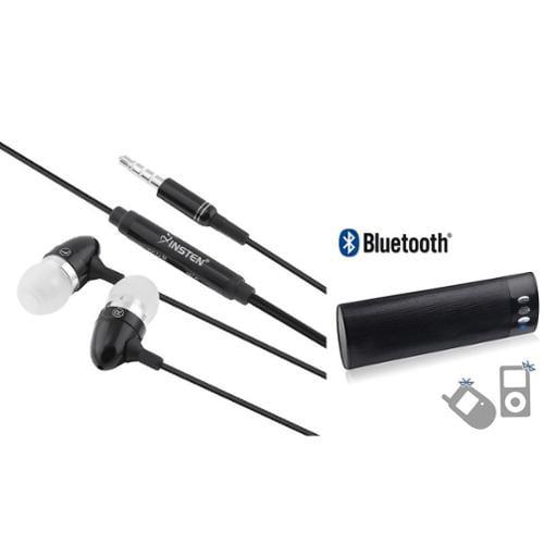 Insten Wireless Portable Bluetooth Speaker Speakerphone + 3.5mm Handsfree Headset For Smartphone Tablet Laptop Universal
