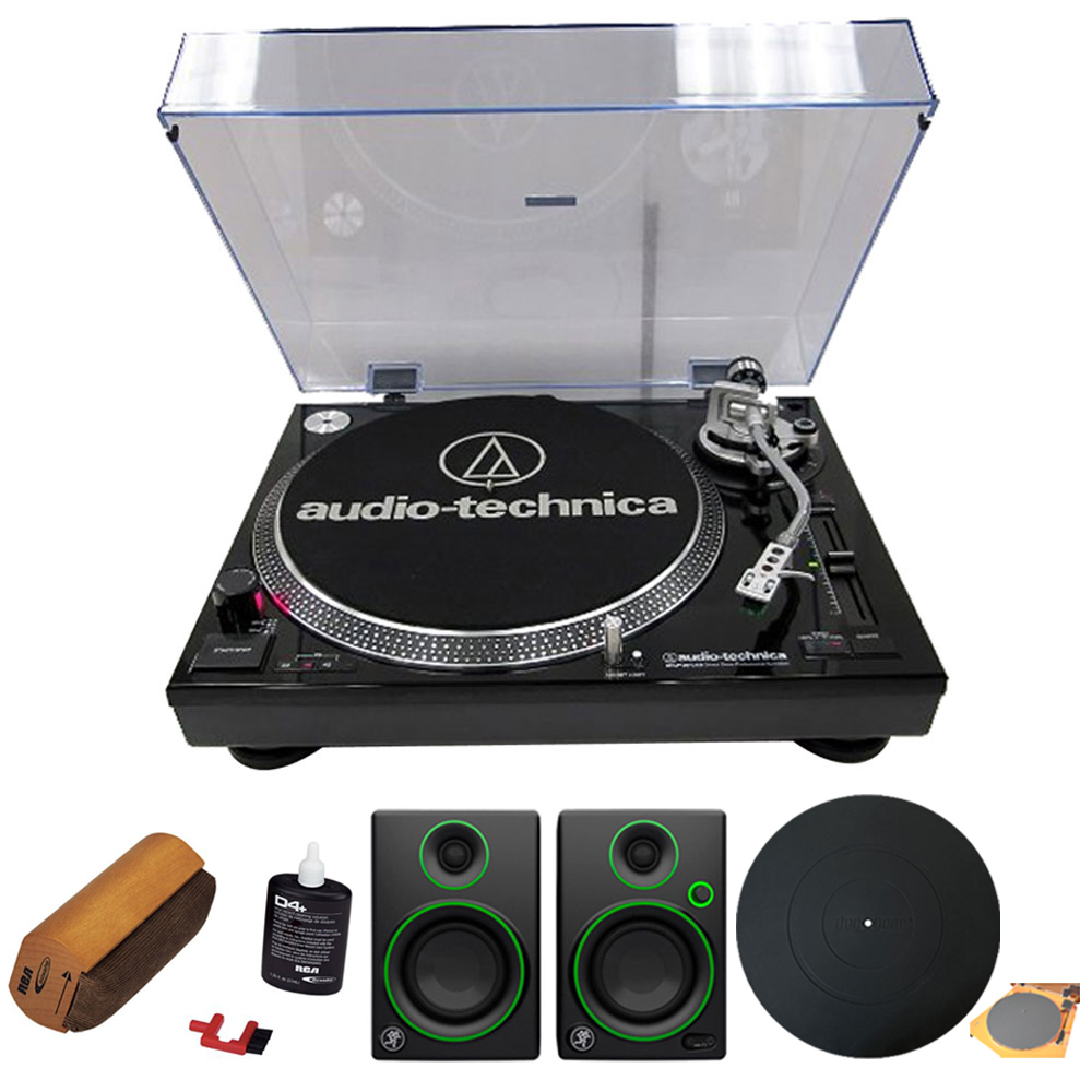 Audio-Technica Professional Stereo Turntable w  USB LP to DIG Recording Piano Black (AT-LP120BK-USB) w  Record... by Audio-Technica