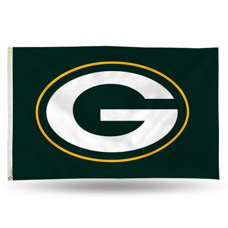 Rico Industries NFL 3' x 5' Banner Flag, Green Bay Packers