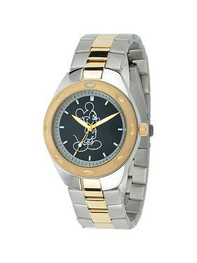 Disney Men's Fortaleza Stainless Steel Watch, Two-Tone Bracelet