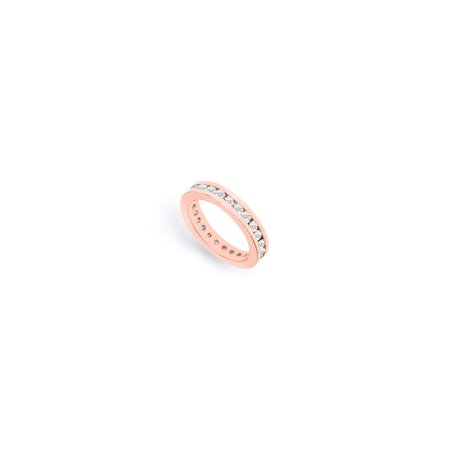 Cubic Zirconia Eternity Bands in 14K Rose Gold Vermeil 1.5 CT TGW First and Second Wedding Anniv - image 5 of 5