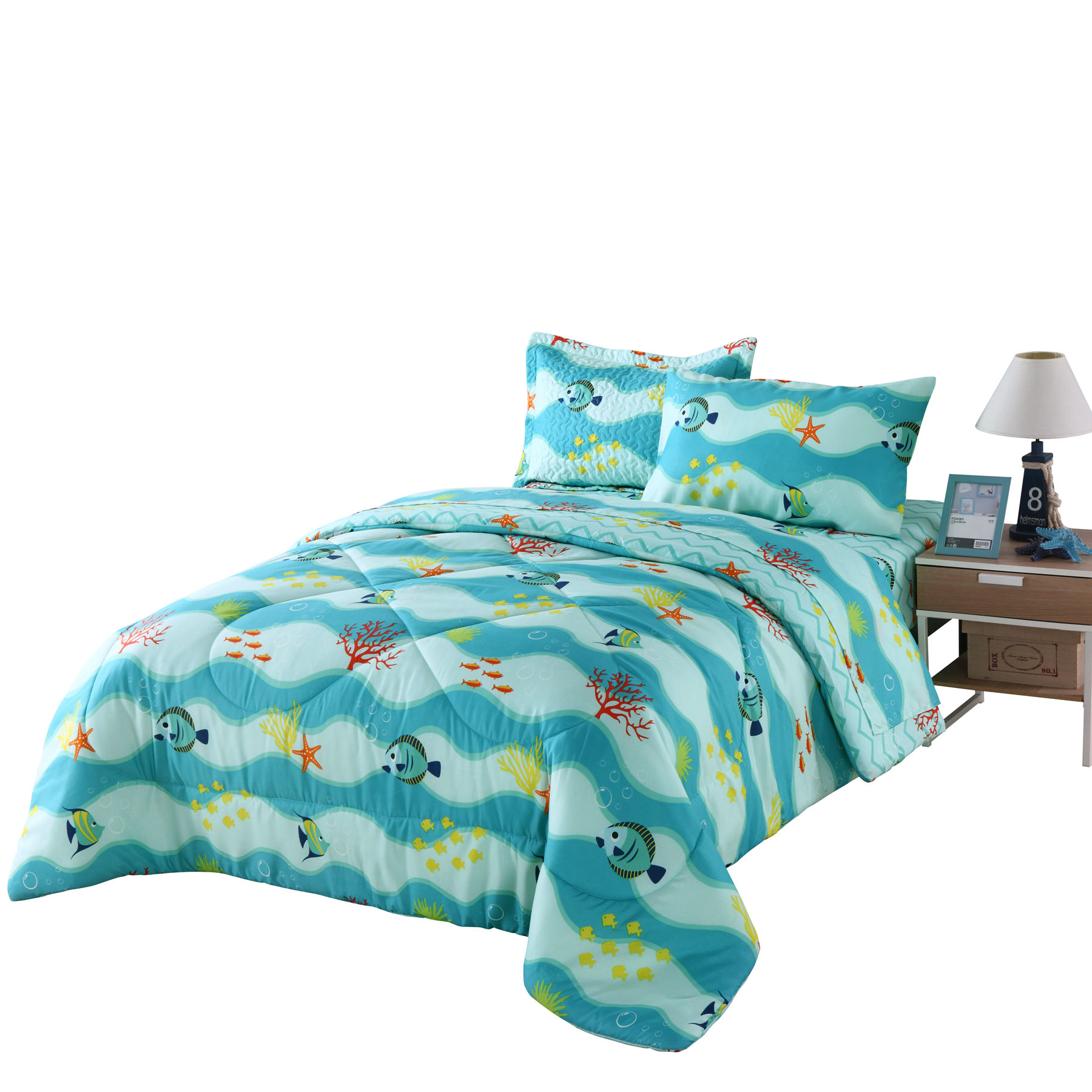 Marcielo Kids Comforter Set Girls Comforter Set Kids Bedding Set Include Sheet Set Bunk Beds For Kids Twin Full 277fish Comforter Twin Walmart Com Walmart Com