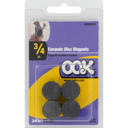 Hillman Ceramic Disc Magnets 3/4 inch 8-Pack