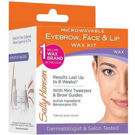 Microwavable Eyebrow, Lip and Face Wax, 0.31 Oz