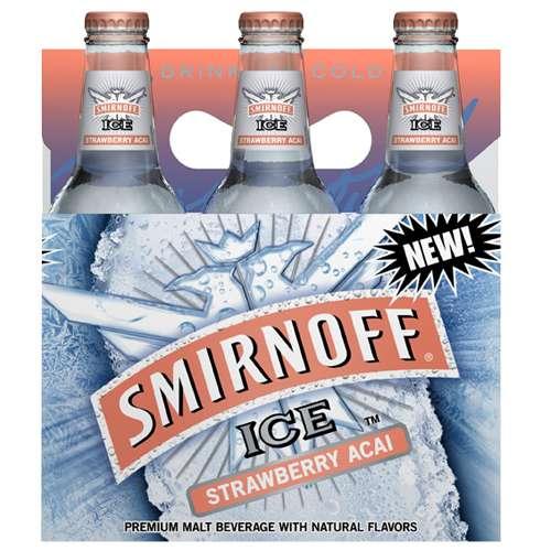Smirnoff Ice Smirnoff Ice Strawberry Acai Flavored Malt Beverage Smirnoff Ice Acai, 612 l