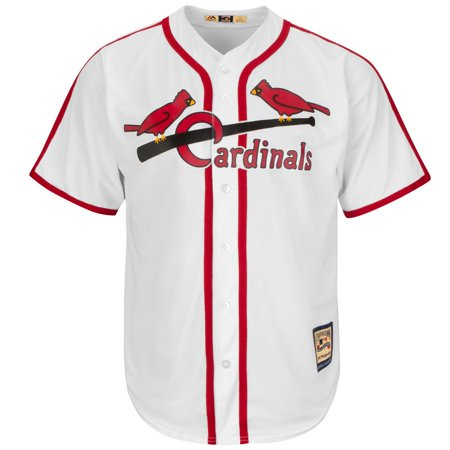 Stan Musial St. Louis Cardinals Majestic Cooperstown Cool Base White Jersey by
