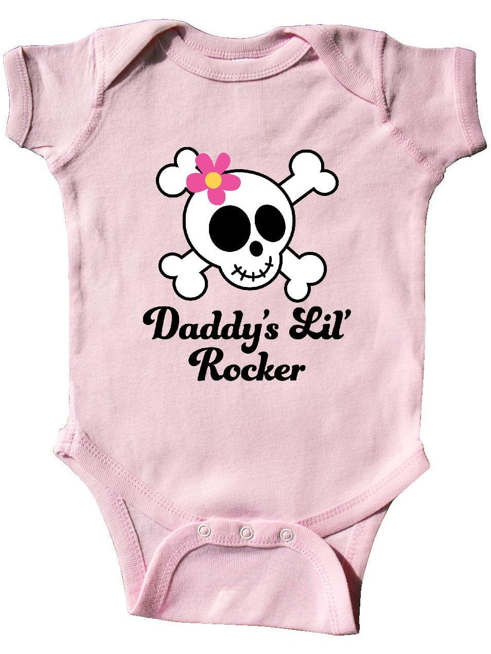 inktastic Daddys Little Rocker Skull Toddler T-Shirt