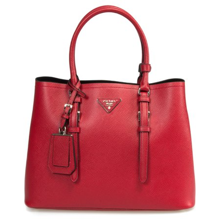 e1c9f02d20d Prada - Prada Double Bag Model 1BG838   Red Leather - Walmart.com
