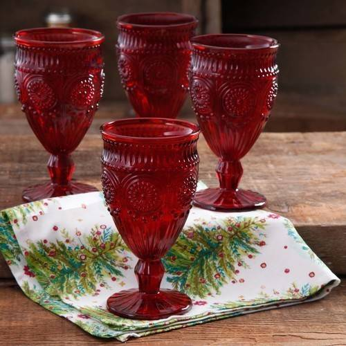 The Pioneer Woman Adeline 12 oz Goblet, Set of 4