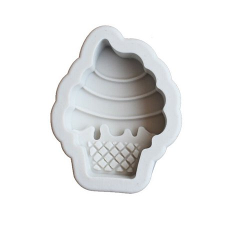 KABOER Diy Ice Cream Shape Cone Liquid Silicone Mold Baking Mold Chocolate Tool