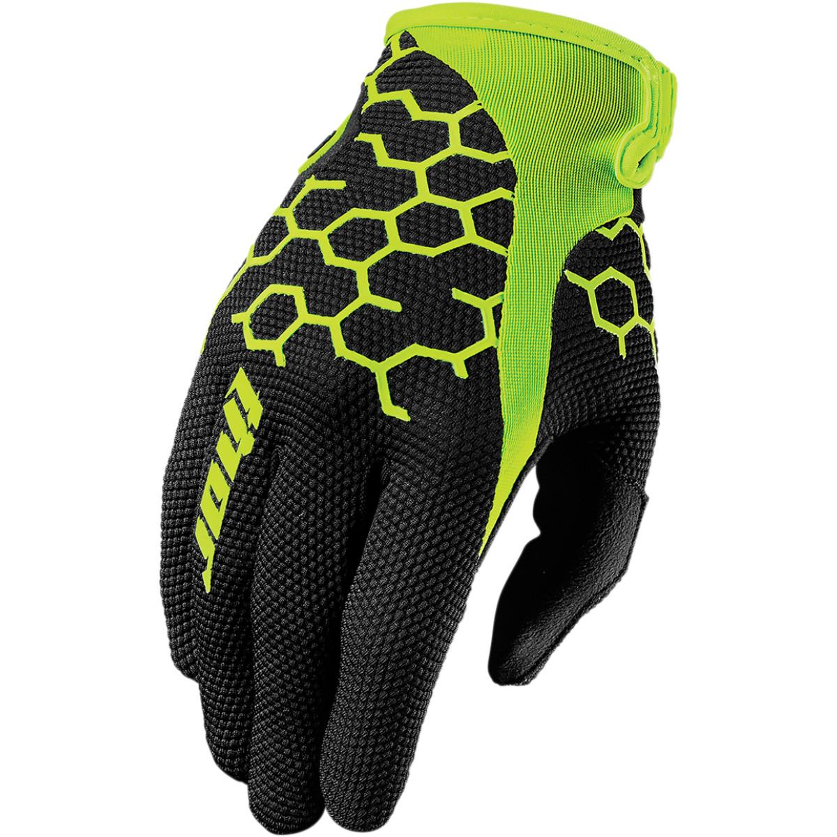 Thor Draft Gloves Short Cuff (Multi Black/Green, X-Small)