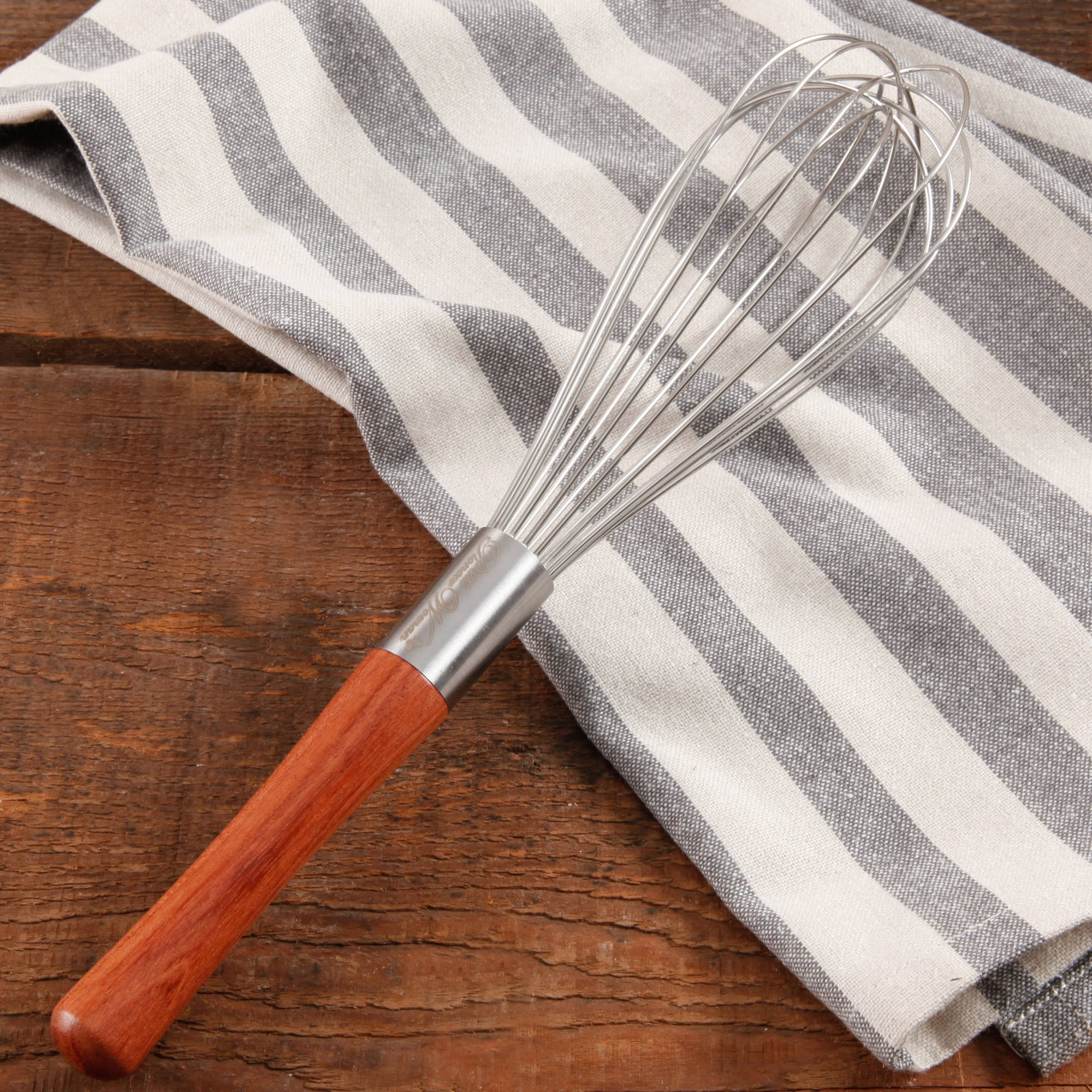 The Pioneer Woman Cowboy Rustic Rosewood Handle Balloon Whisk