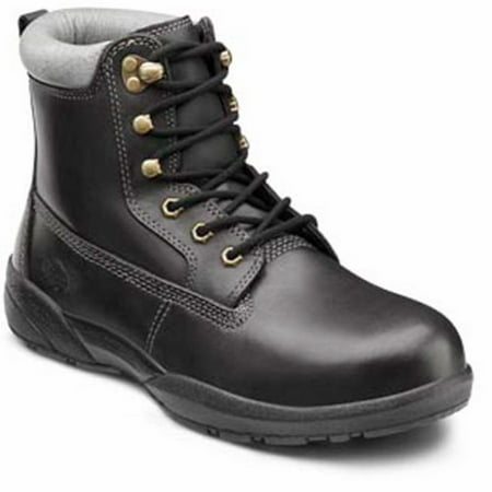 Dr. Comfort Protector Men's Work Boot: 6 Medium (B/D) Black Lace - Black Lace Boots
