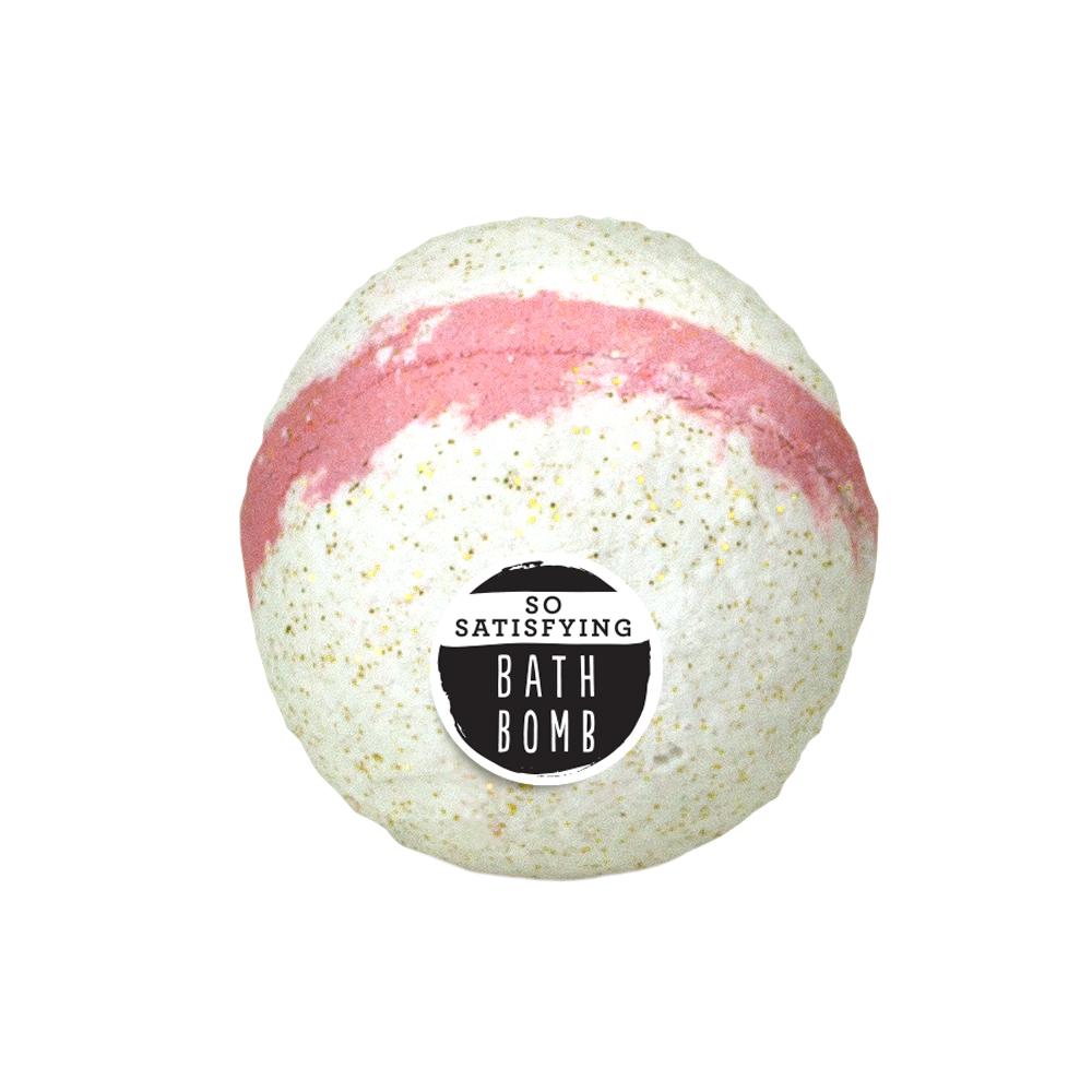 (3 pack) HALLU So Satisfying Fairy Pink Bath Bomb, Island Hibiscus Scent, 140g