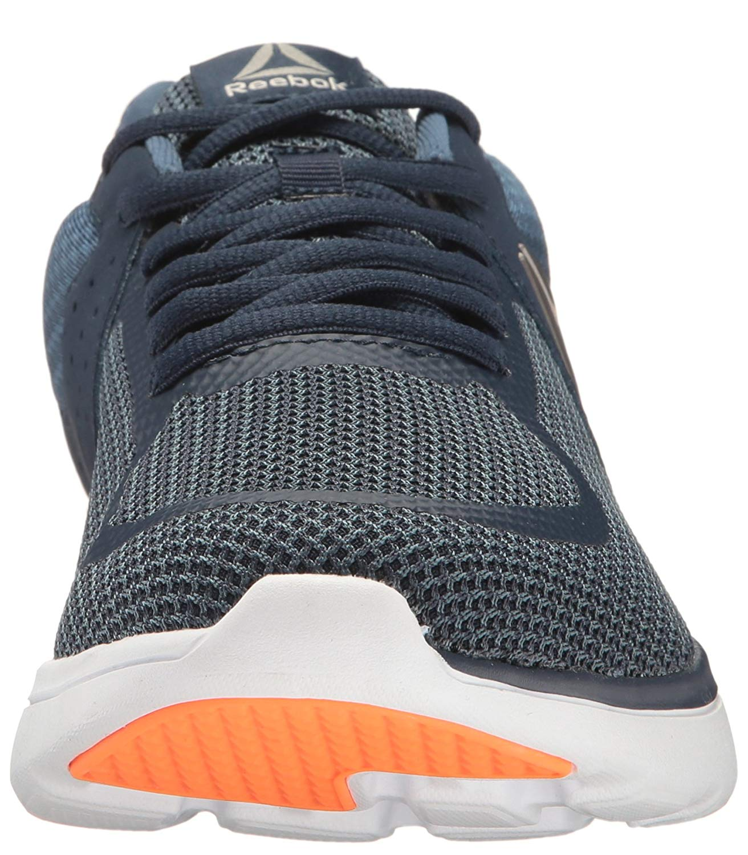 Reebok Men s Astroride Run Mt Navy   Blue White Orange Ankle-High Running  Shoe - 11M 765f38ea3