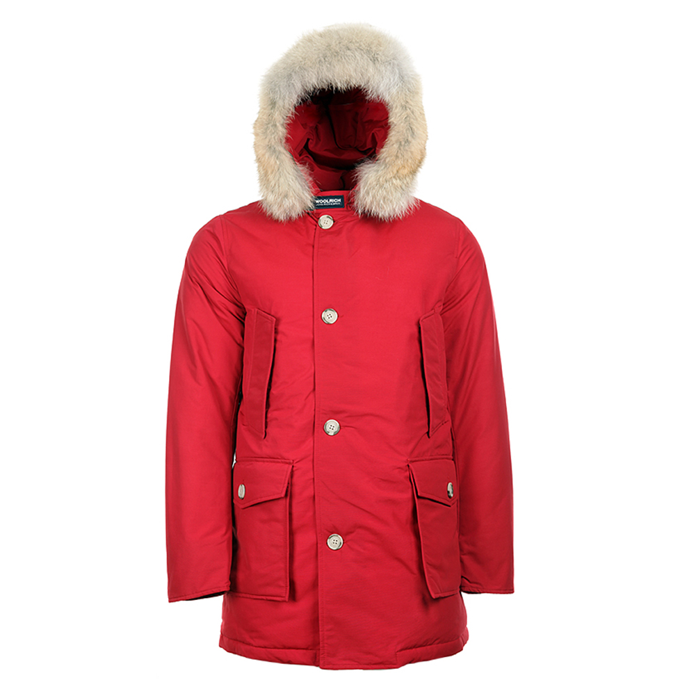 Woolrich Men's Arctic Parka DF WO1674 Burgundy, Red