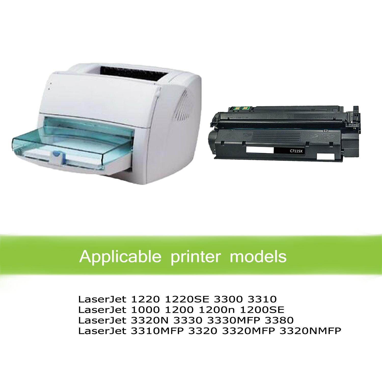 6 Pack C7115X Toner Cartridge for HP 15X LaserJet 1000 1200