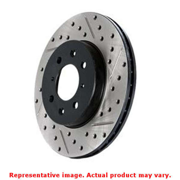 StopTech Brake Rotor - SportStop Drilled & Slotted 127.65119R Front Right Fits