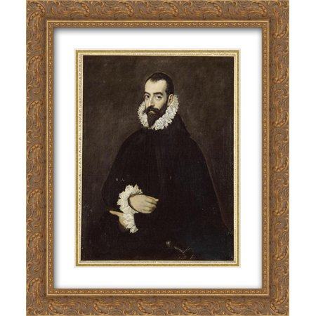 El Greco 2x Matted 20x24 Gold Ornate Framed Art Print 'Portrait of Juan Alfonso de Pimentel y - Alfonso Herrera Halloween