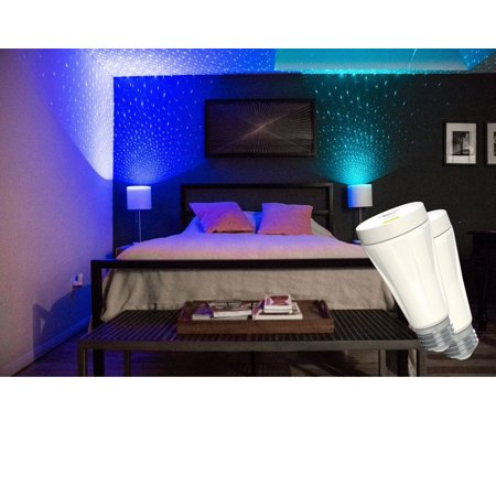 Sleep Soothing Stary Projector Laser Night Light, BlissLights BlissBulb Colorful Room LED Laser Decorative Mood