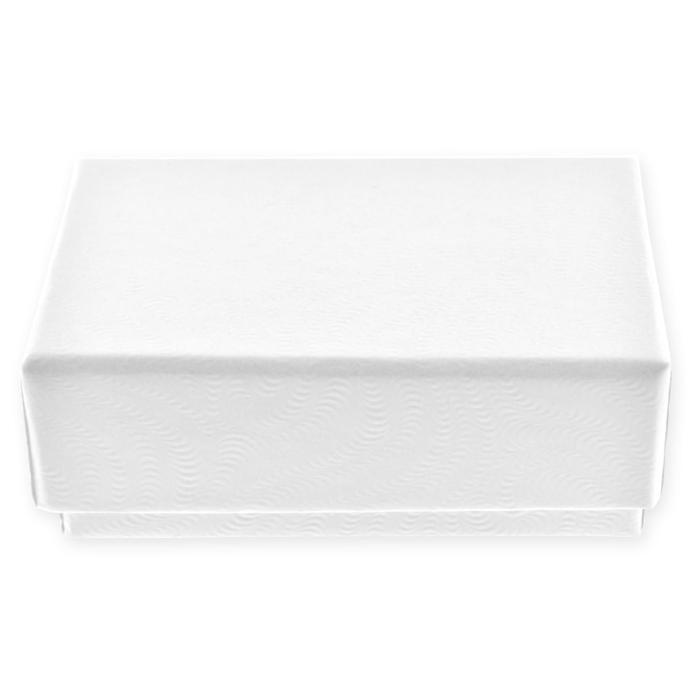 RJ Displays-20 Pack Cotton Filled Swirl White Color Jewelry Gift and Retail Boxes 3 X 3 X 1 Inch Size