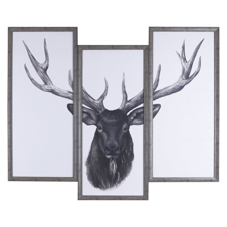 - ArtMaison Canada Deer Head Tri-Pack Framed Wall Art