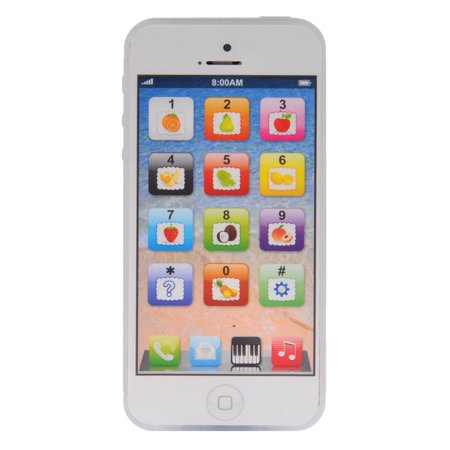- Kid Toy-phone 5S Touch Screen Multi-Functional English Learning Mobile Phone With Dazzle Colored Light White