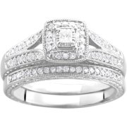 13 carat tw diamond bridal set in argentium silver - Wedding Ring Set For Women
