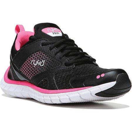 Womens Pria Running Shoe, Black/Pink, 9.5 M US Rykä