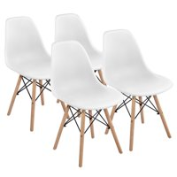 4-Pack SmileMart Modern Dining Chairs (White)