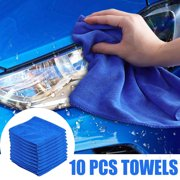 10/20/30/40/50Pcs Microfiber Car Cleaning Towel Kitchen Washing Polish Clean Cloth For Auto Shops Mechanics