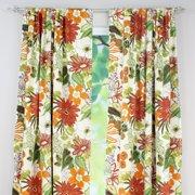 Brite Ideas Living Lilith Marigold Rod Pocket Curtain Panel - 108L x 54W in.