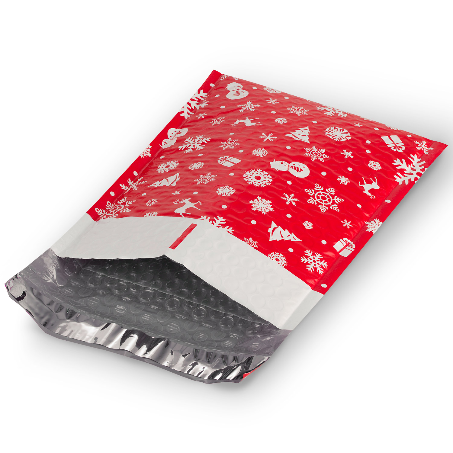 Fosmon #0 Christmas Poly Bubble Mailer 6.5 x 10, Water Resistant Padded Shipping Envelopes 5 10 25 50 100 Pack