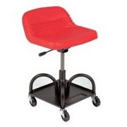 Whiteside Manufacturing 48005 Adjustable Height Red Heavy Duty Padded Shop Seat